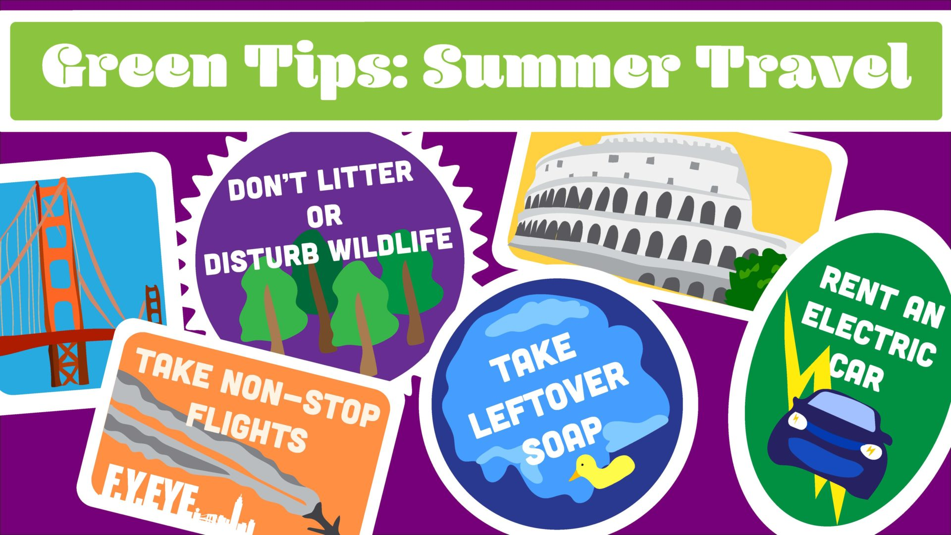 Green Tips for Summer Travel banner