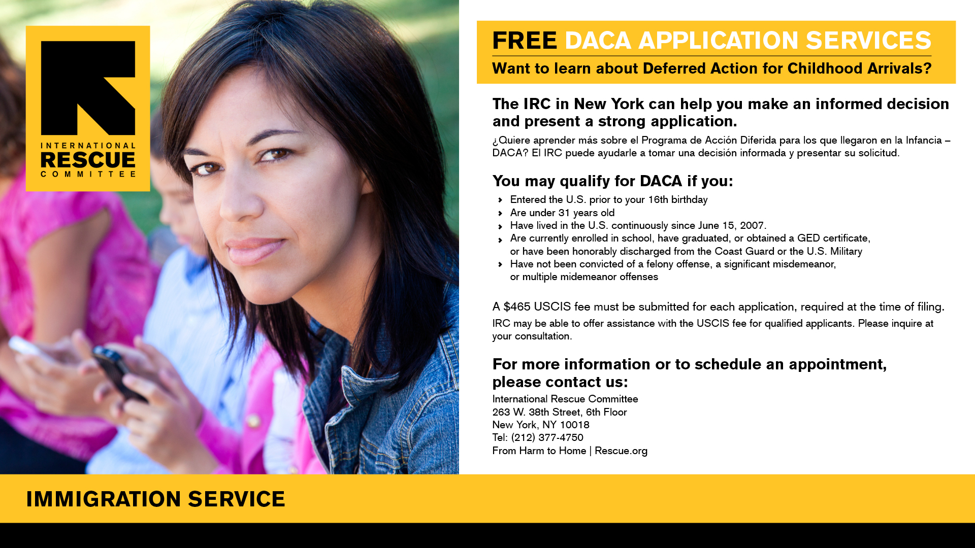DACA Application Services banner