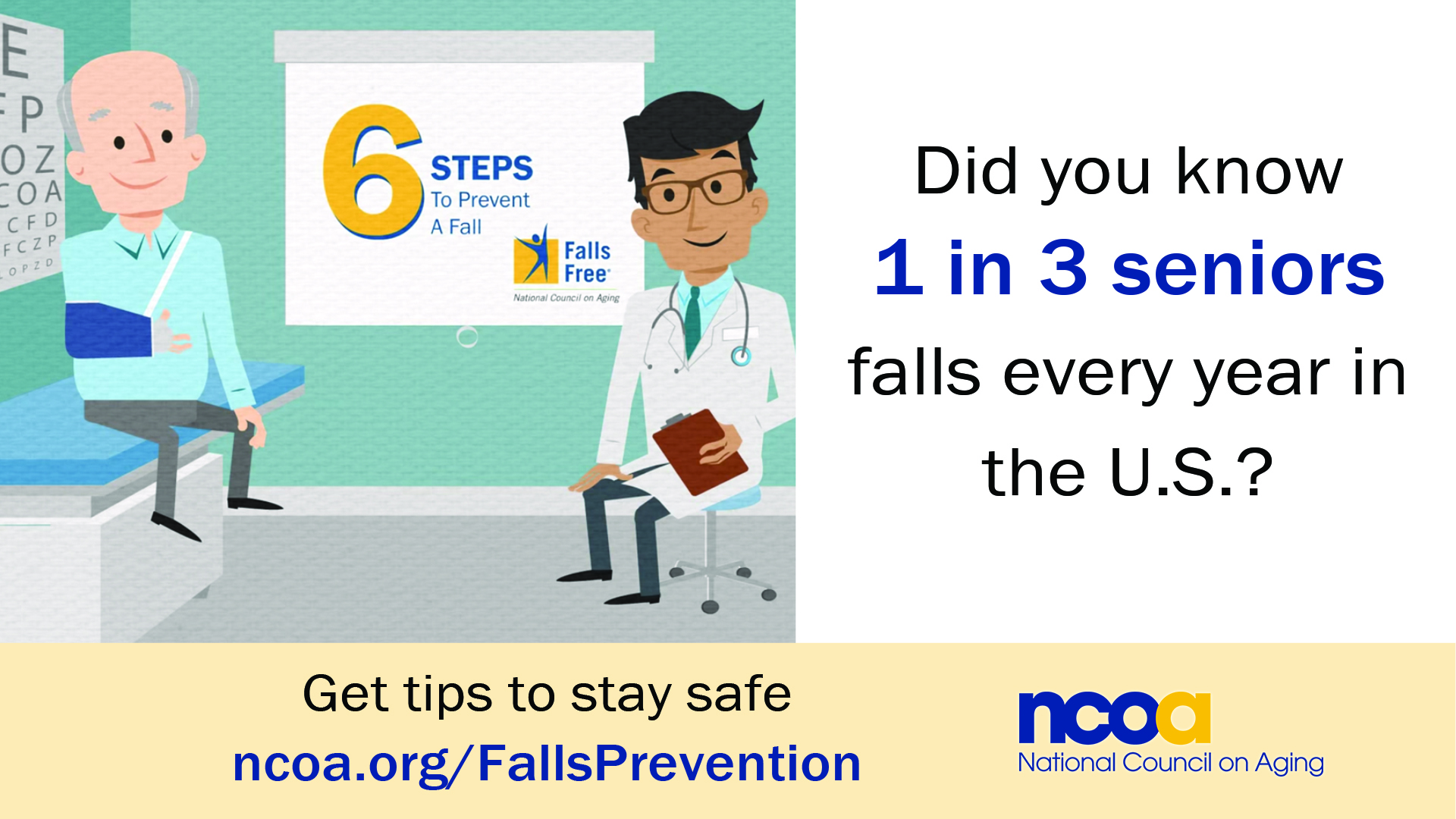 Falls Prevention Tips banner