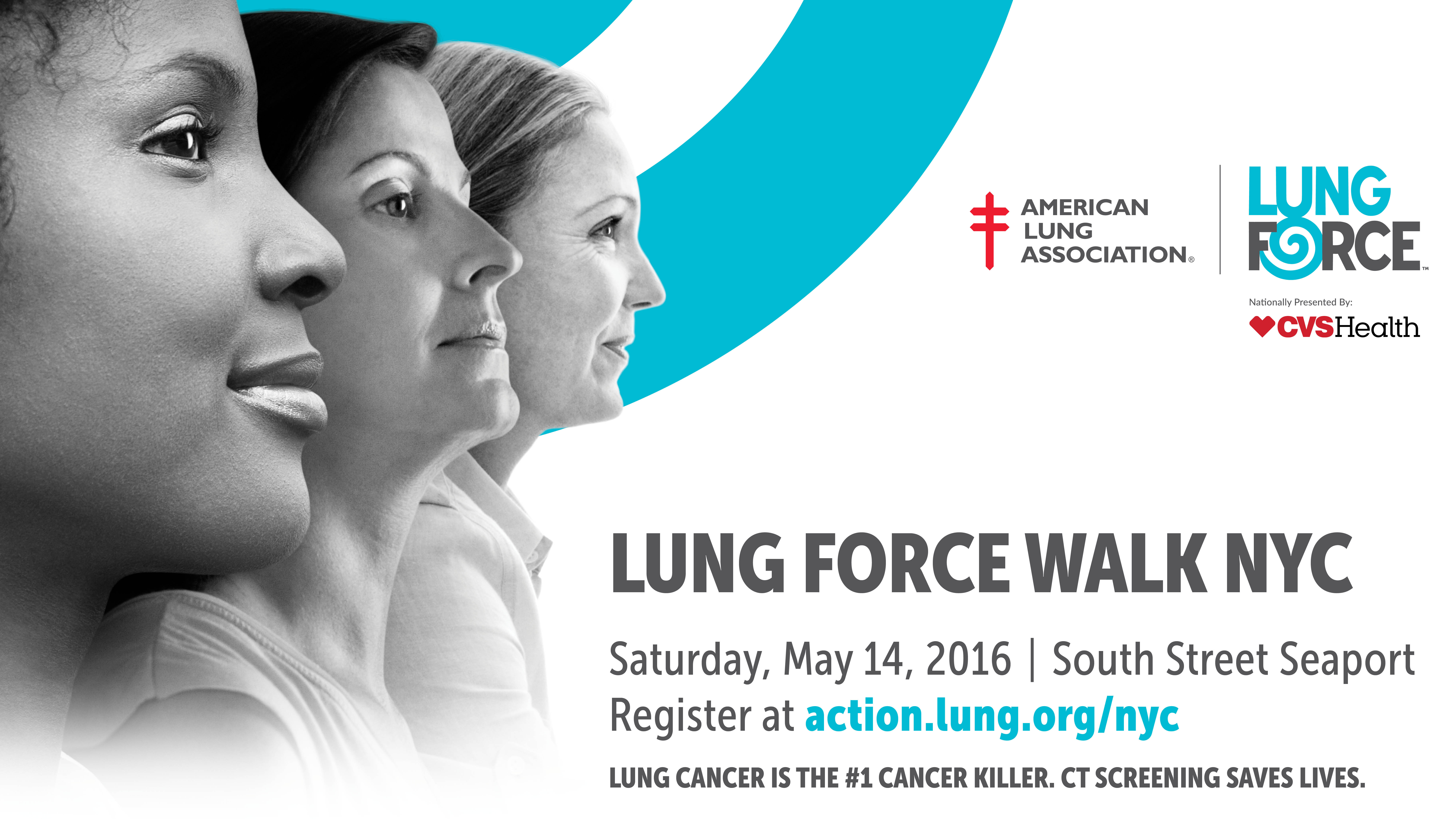 Lung Force Walk Awareness banner