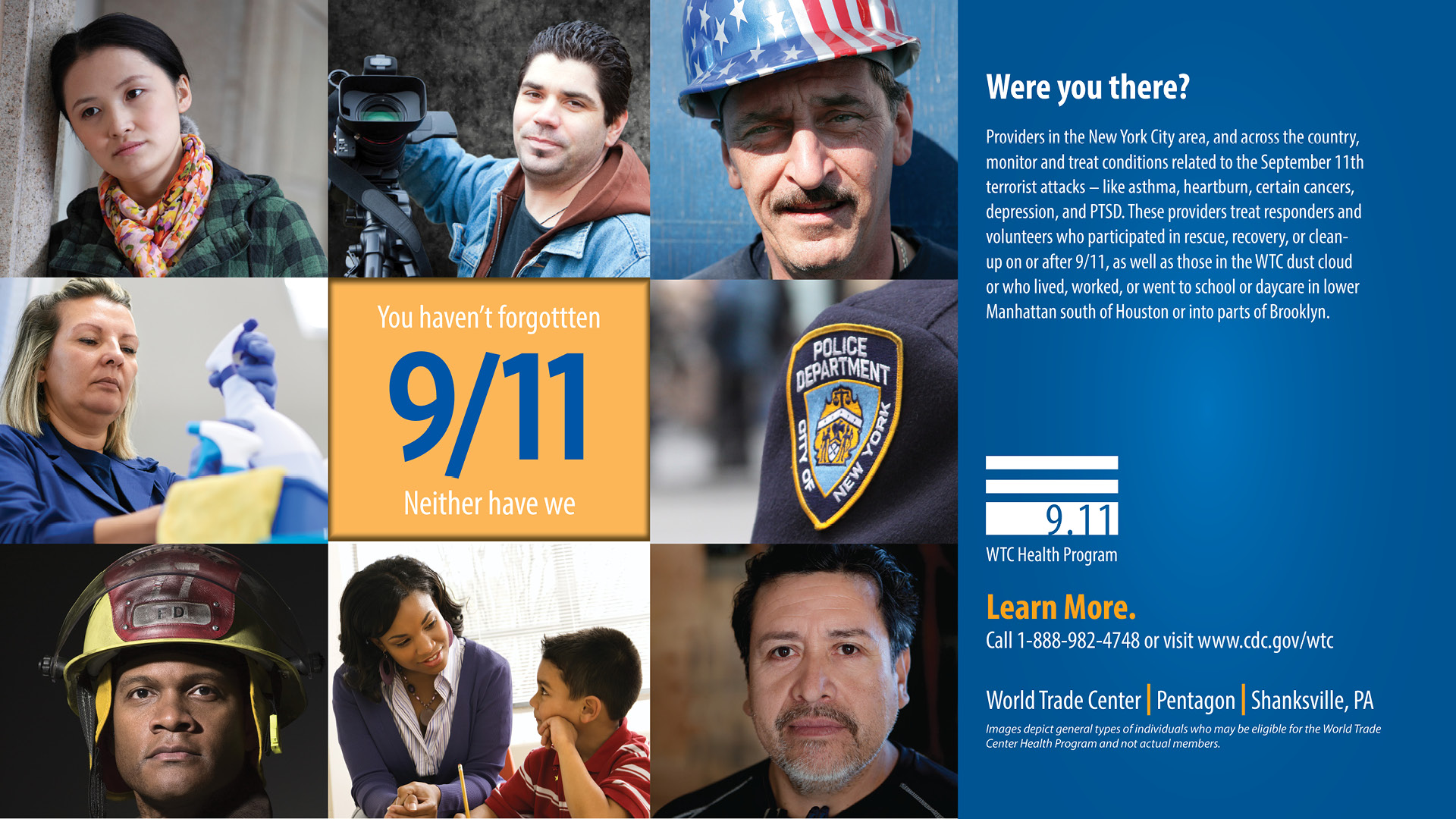 WTC Health Program Awareness banner