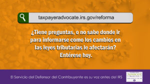 1280x720-TaxpayerAdvocateServiceTaxReformSiteSpanish image