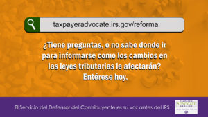 1366x768-TaxpayerAdvocateServiceTaxReformSiteSpanish image