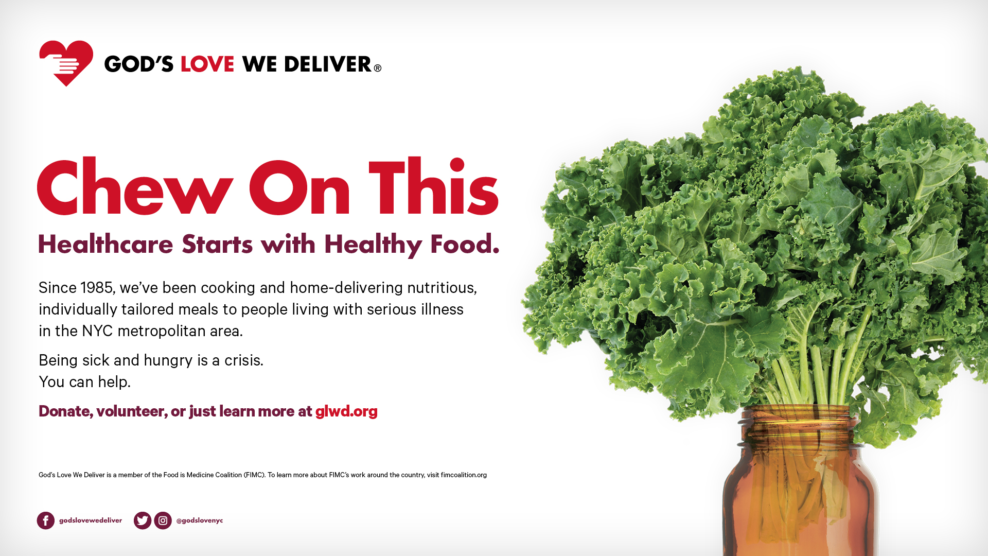 Healthcare Starts with Healthy Food banner