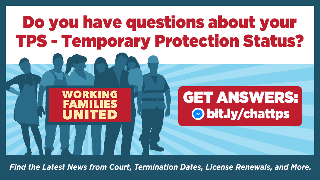 Temporary Protected Status (TPS) Chatline banner