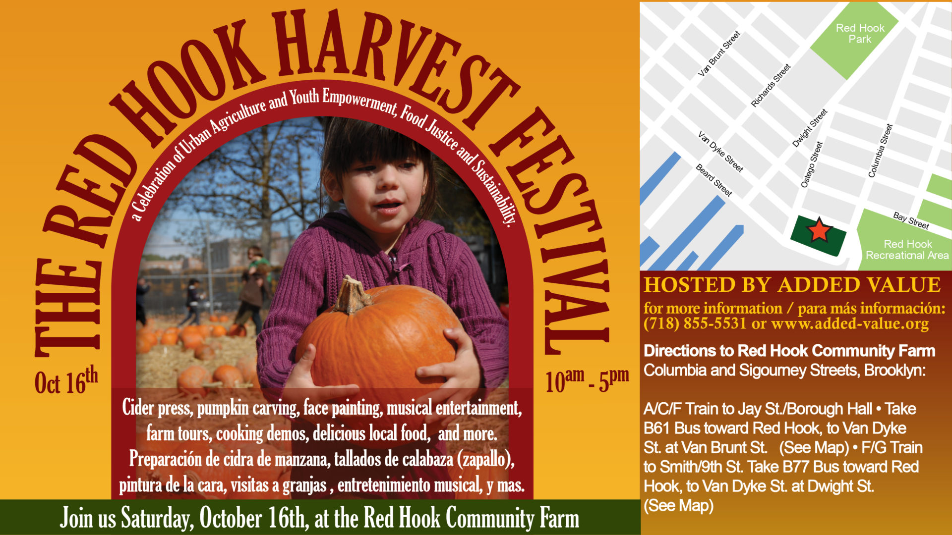 Red Hook Harvest Festival banner