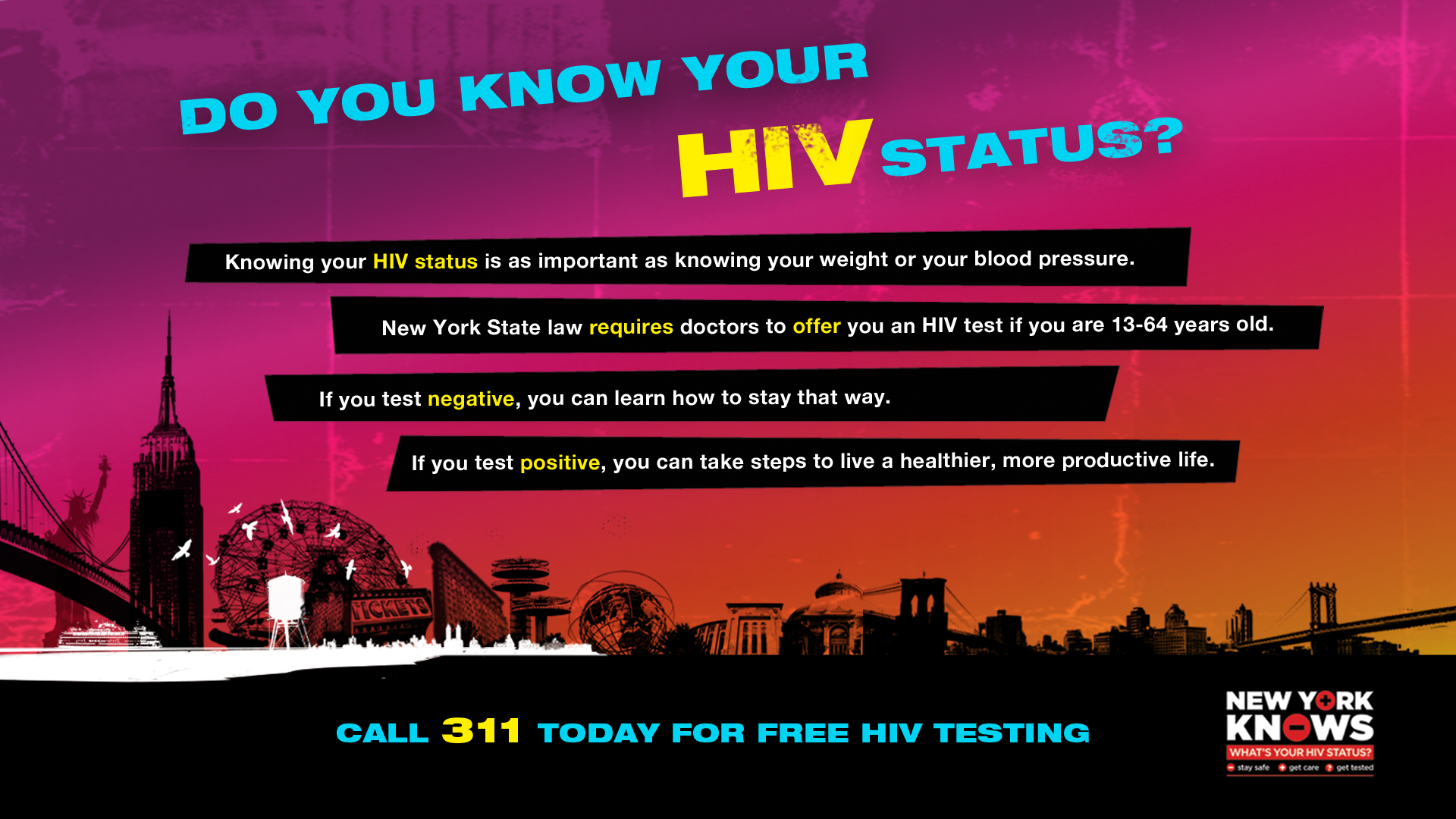 Get Tested for HIV banner