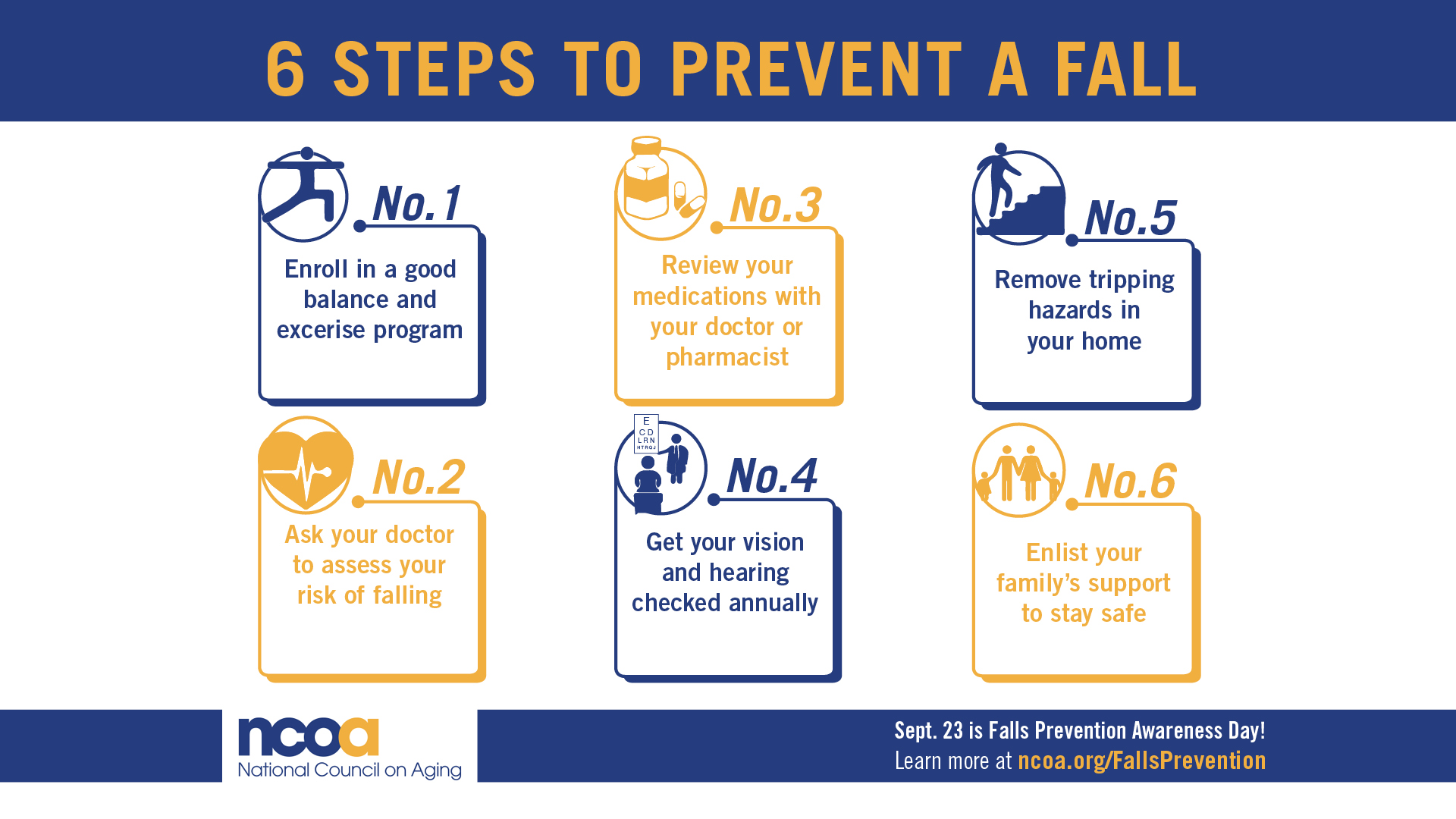 Fall Prevention Tips banner
