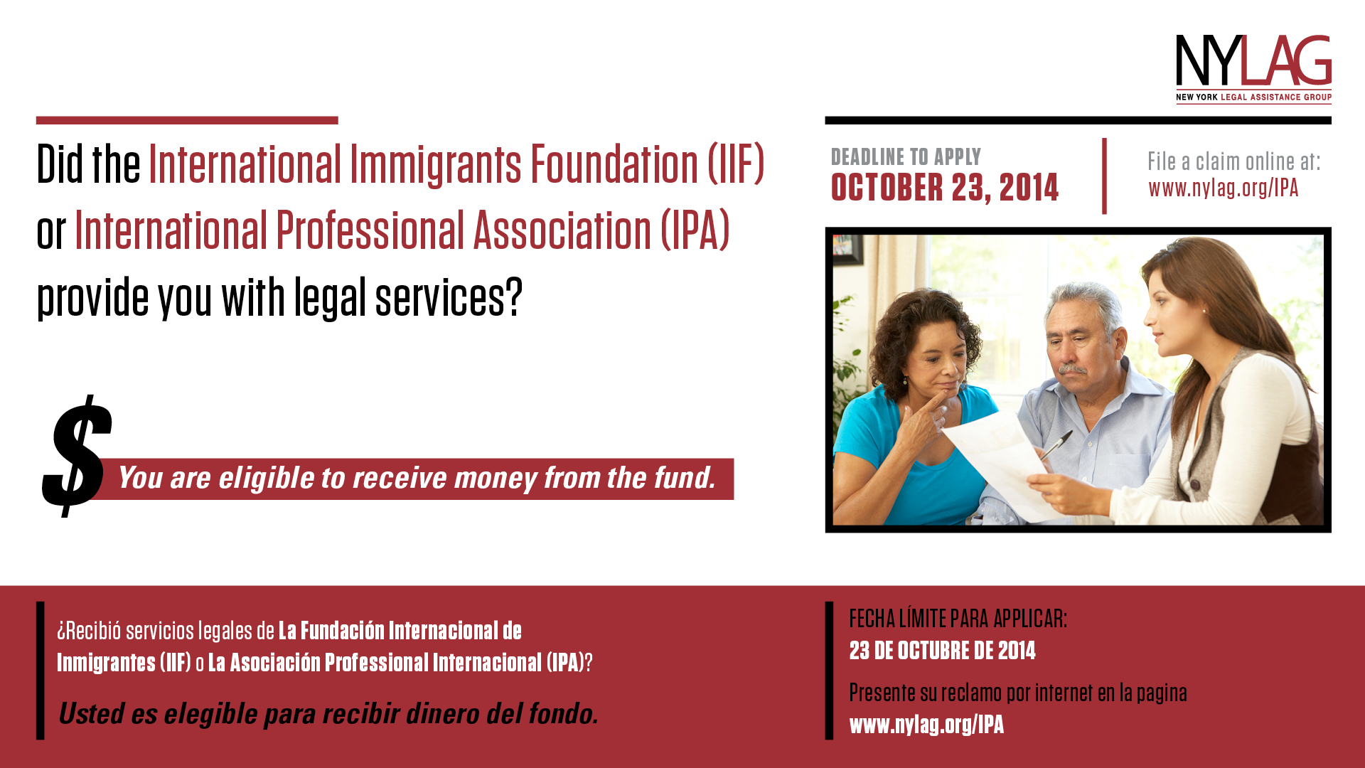 Immigrant Restitution Fund banner