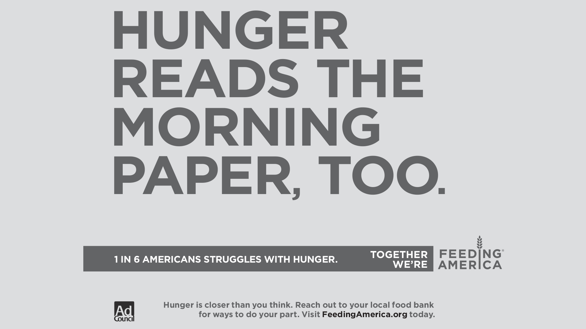 Hunger Awareness banner