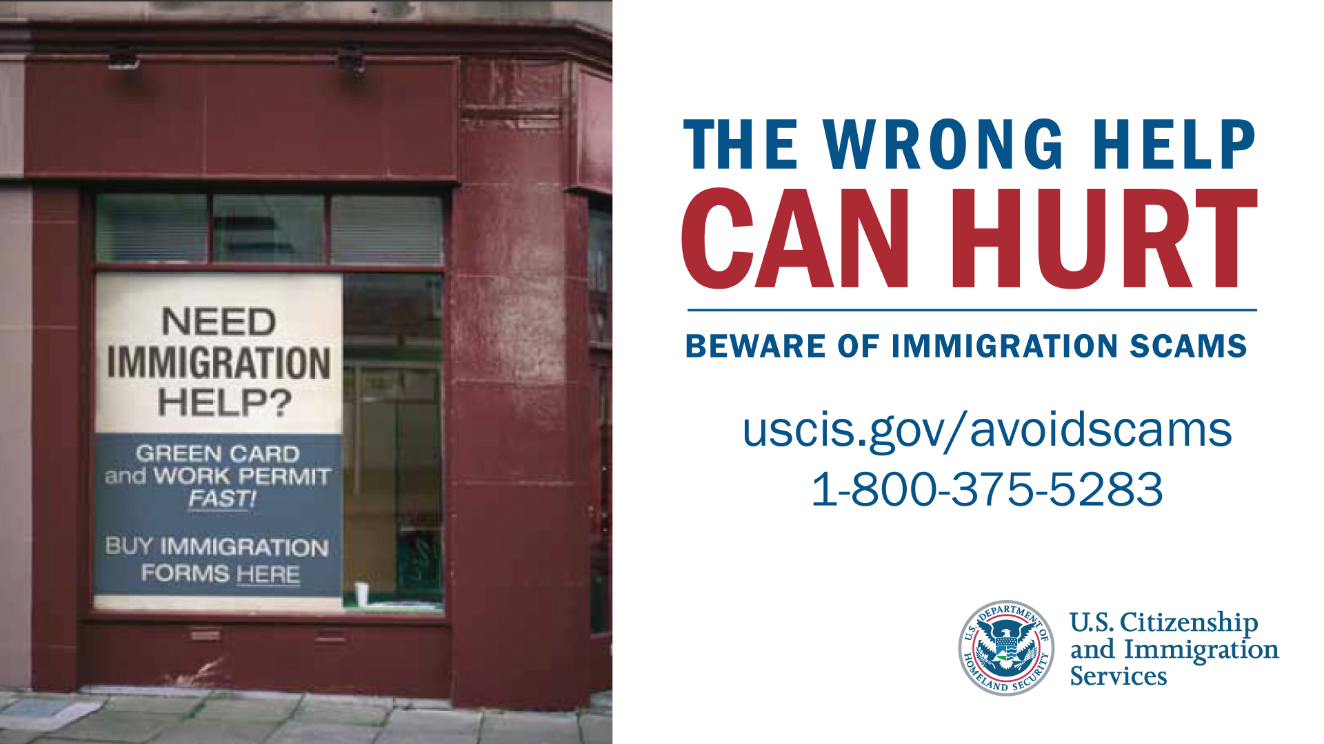 Immigration Scams banner