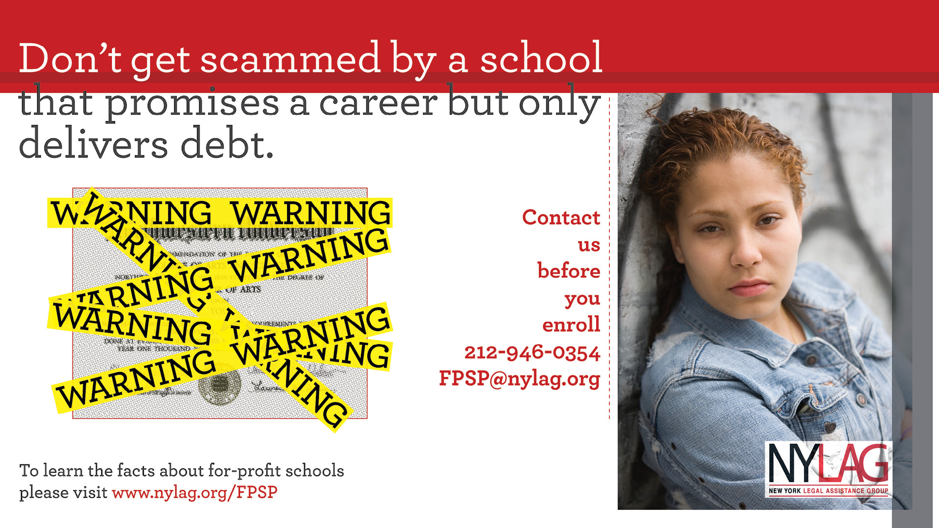 For-Profit College Scam banner