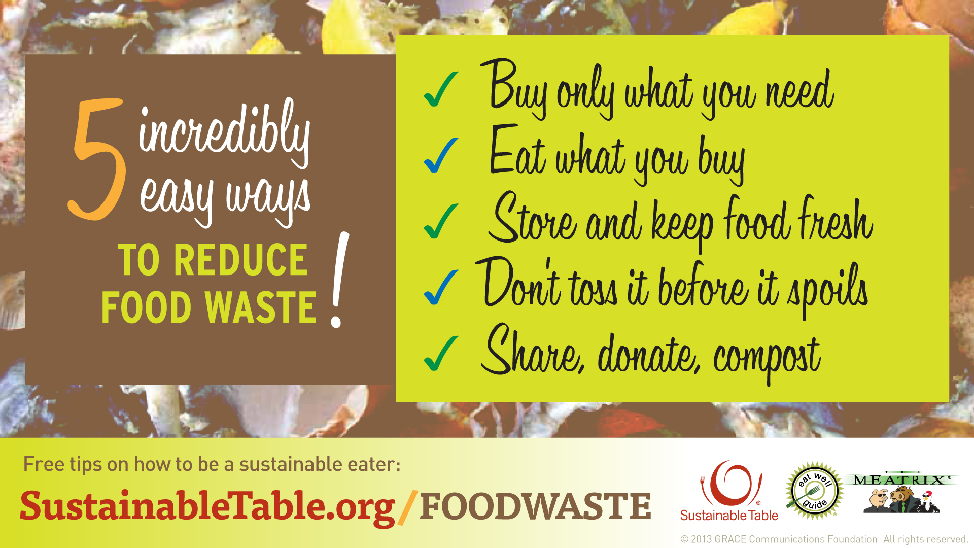 Reduce Food Waste banner