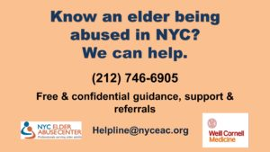 NYC Elder Abuse Helpline image