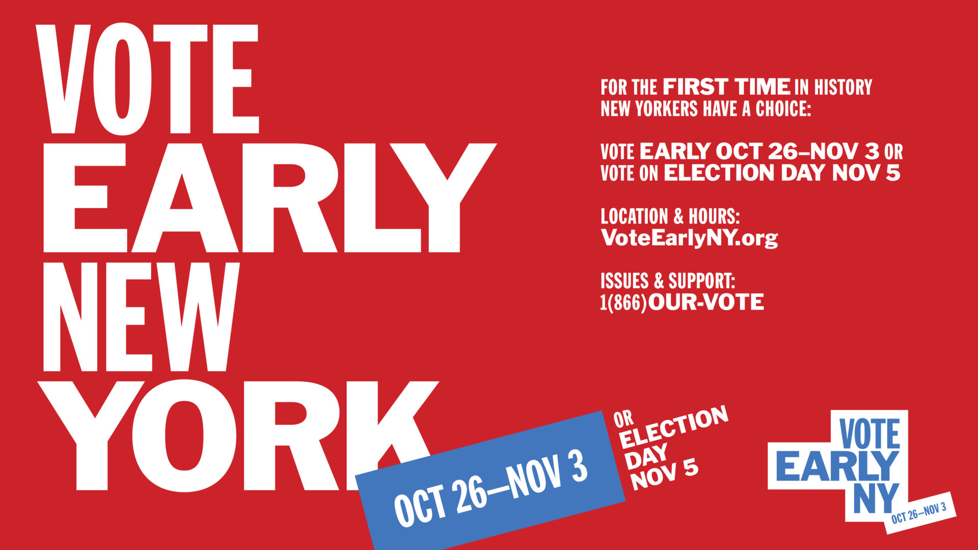 Vote Early New York banner