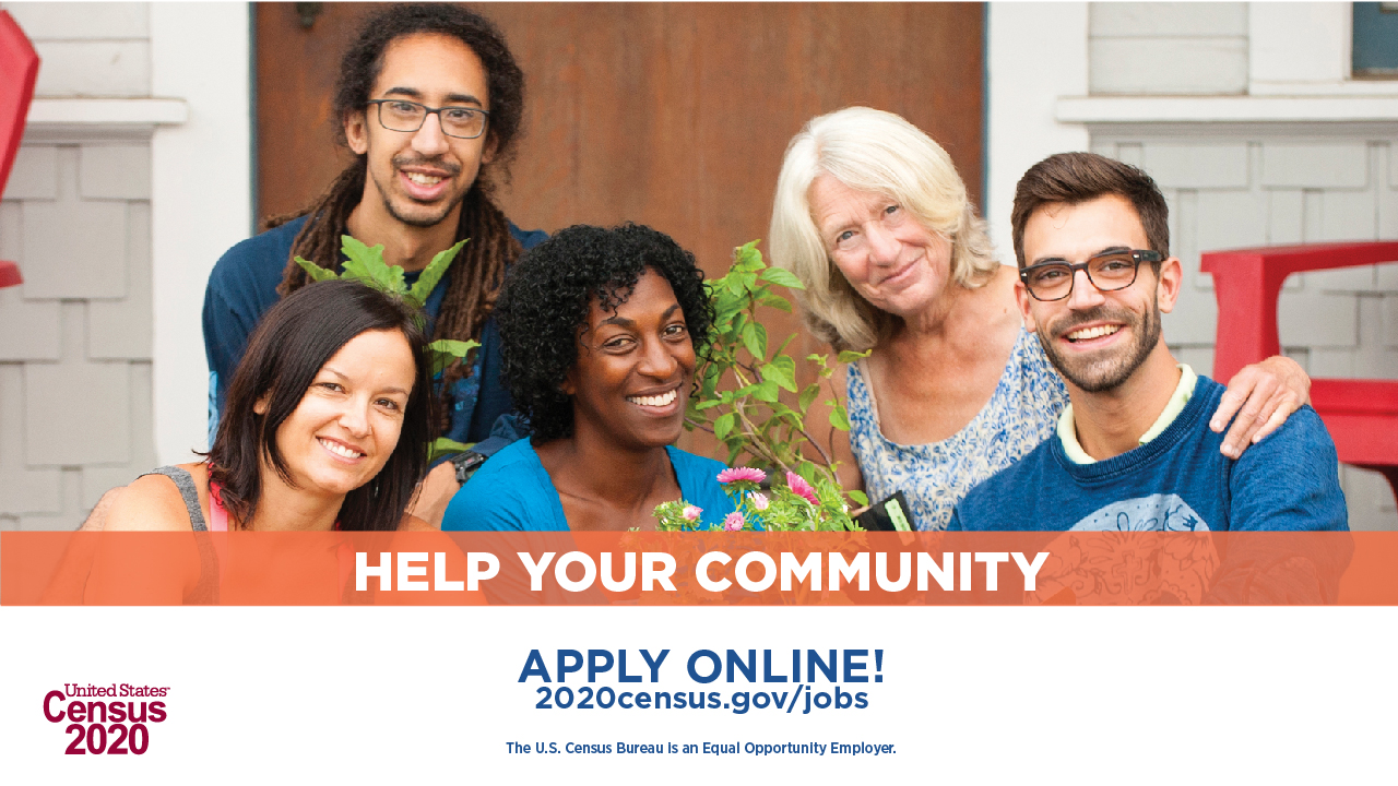2020 Census Jobs banner