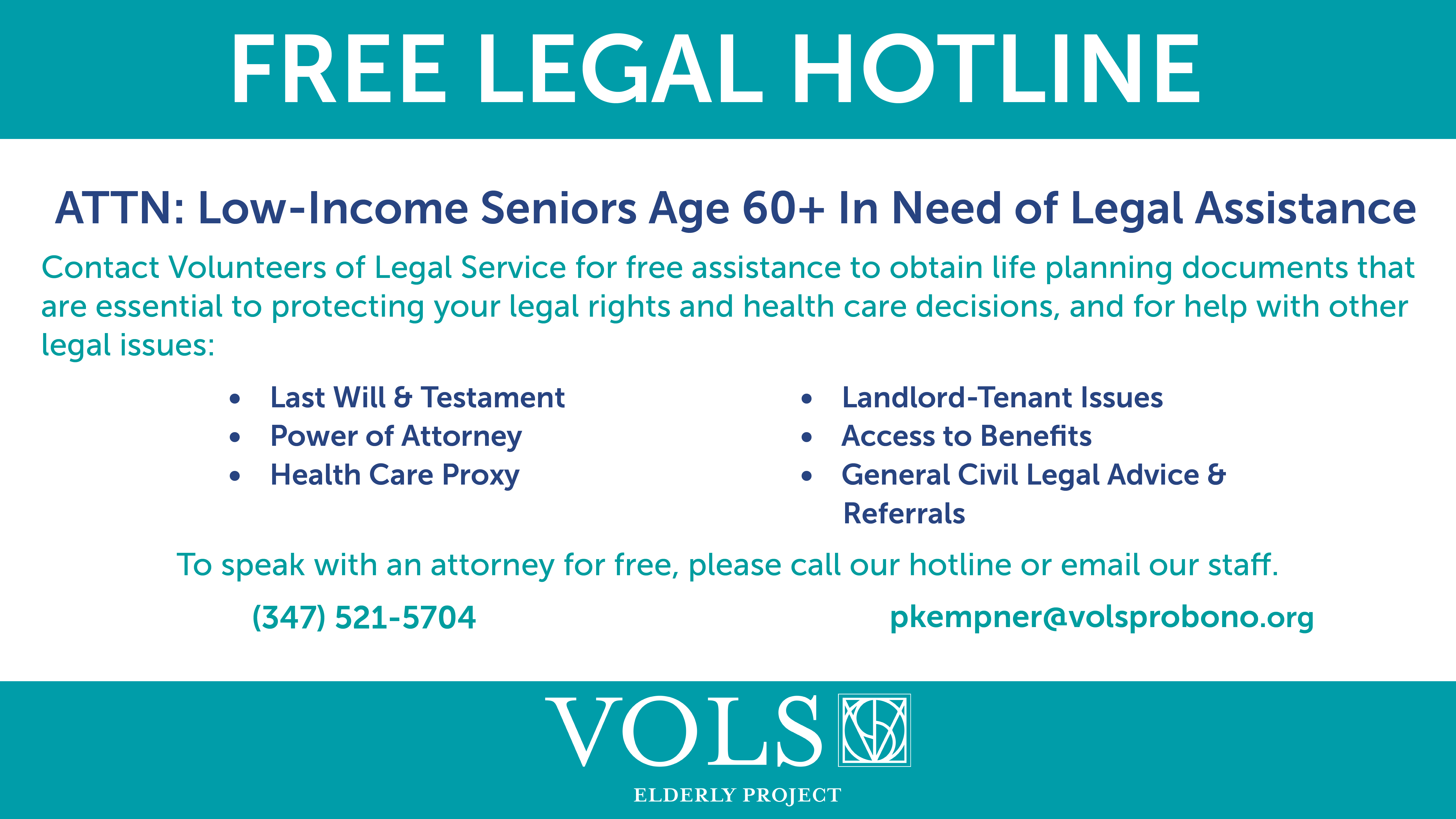 Free Legal Assistance banner