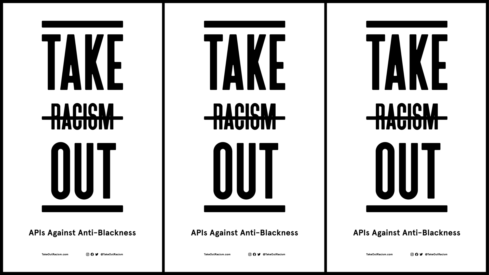 Take Out Racism banner