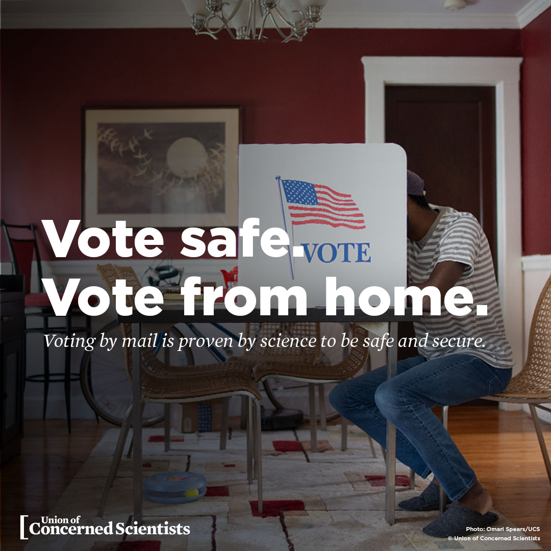Vote safe. Vote from home. banner