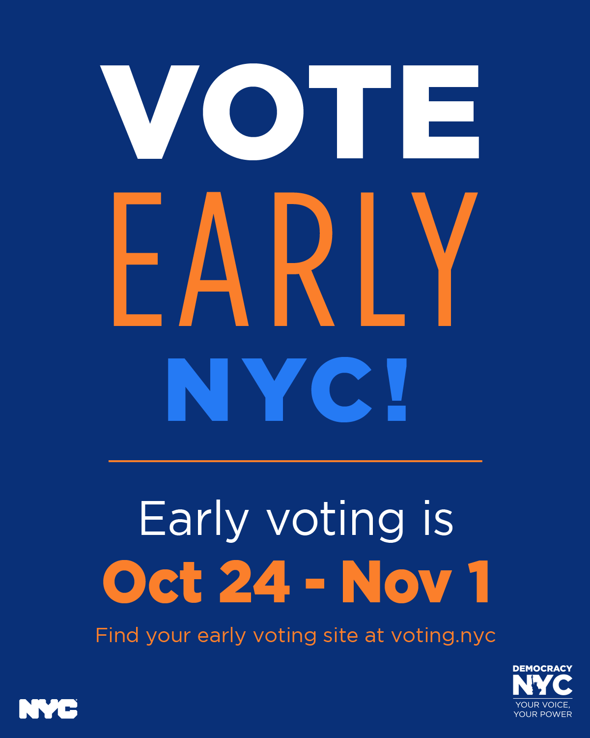 Vote Early NYC banner