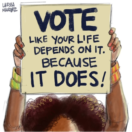 Vote Like Your Life Depends On It banner