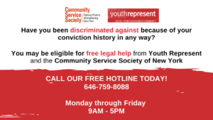 Criminal Conviction Discrimination Hotline image