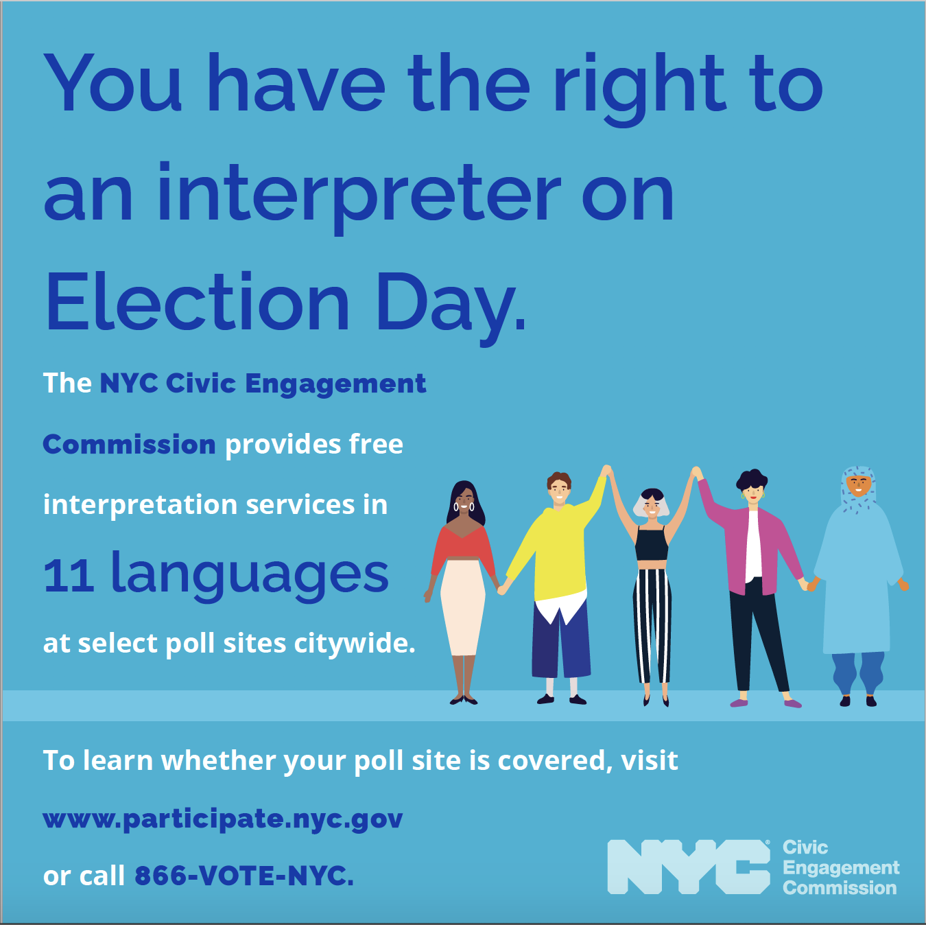 You have the right to an interpreter! banner