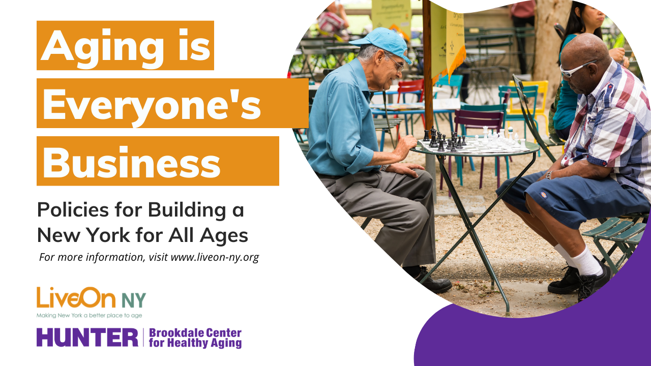 Aging is Everyone's Business banner
